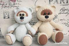 Miel osos de peluche patrón de ganchillo