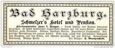 Original-Werbung/ Anzeige 1900 - BAD HARZBURG / SCHMELZER'S HOTEL UND PENSION  - ca. 100 x 40 mm