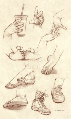 Hands Feet and Shoes by ArandaDill.deviantart.com on @deviantART: