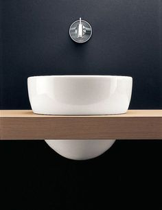 Boffi basin and wall mounted basin tap. Bathroom Sink Design, Bathroom Interior, Modern Bathroom, Small Bathroom, Modern Sink, Bathroom Designs, Bathroom Ideas, Bathroom Toilets, Bathroom Sinks