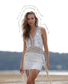 IXIAH { pronounced ex' sy' ah' } is a Sydney-based fashion label whose best known for their textural collections and strong silhouettes with handmade eclectic design aspects. Eclectic Design, Festival Looks, Fashion Labels, Savior, Macrame, Cover Up, Bohemian, Silhouette, Board
