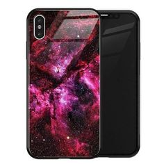 Luxury Space Silicone Glass Anti Slip Iphone Cases - No 7 / for iPhone X