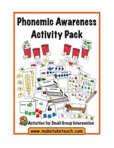 This activity pack contains 9 of our most popular phonemic awareness activities!  Hands on activities using colorful and engaging pictures make thi...