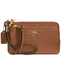 COACH MADISON DOUBLE ZIP WRISTLET IN LEATHER - Coach Accessories - Handbags & Accessories - Macy's