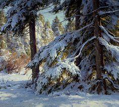 Clyde Aspevig Painting Snow, Winter Painting, Winter Art, Landscape Artwork, Cool Landscapes, Clyde Aspevig, Landscape Arquitecture, Art Occidental, Western Landscape