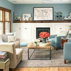 Family Room Images no-fail colors for living spaces | paint shades, dabbing and behr