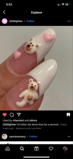 Soft Nails, Aycrlic Nails, Cute Acrylic Nail Designs, Best Acrylic Nails, Really Cute Nails, Pretty Nails, Anime Nails, Queen Nails, School Nails