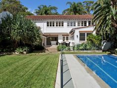 Stritt Design & Construction | Pittwater Residence Colonial Style Homes, Spanish Colonial, Southern California Style, Lush Garden, Cabana, Restoration, Coast, Construction, Mansions