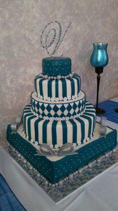 Quinceanera Cake - by LDCakes @ CakesDecor.com - cake decorating website