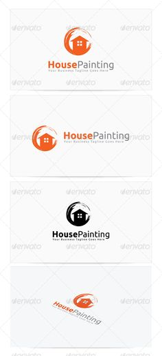 House Painting Logo by himoo Re sizable Vector EPS and AiPSD 6250*4167 Color customizable Fully editable Free font used: http://www.fontsquirrel.com/fonts/ubun