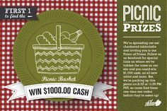 Shari's Berries - Picnic of Prizes Scavenger Hunt! Hunt to win awesome prizes including an iPad and $ 1,000 cash!
