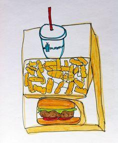 good food crap drawing