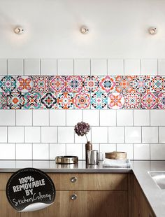 100 removable self adhesive tile decal my wall decals are printed on an innovative - Abnehmbare Backsplash Lowes
