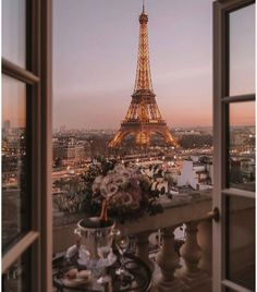 """The Tour Eiffel is genuinely a symbol of Paris. It is the most recognizable function of the city and, in truth, the world. Found in the arrondissement, the Eiffel Tower was a marvel of """"modern-day"""" engineering. Torre Eiffel Paris, Paris Eiffel Tower, Eiffel Towers, City Aesthetic, Travel Aesthetic, Aesthetic Beauty, Window View, Beautiful Places To Travel, Photo Wall Collage"""
