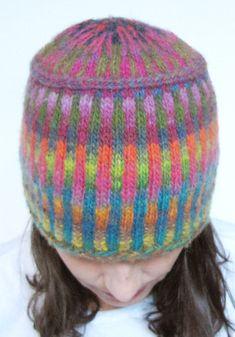Free Knitting Pattern for Corrugated Pillbox Hat