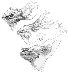 Hraezlyr Head Concept Art 2 - God of War Art Gallery