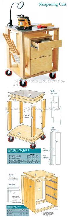 Sharpening Rolling Cart Plans - Workshop Solutions Plans, Tips and Tricks | WoodArchivist.com