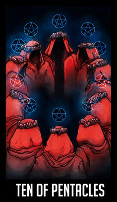 "WTNV Tarot TEN OF PENTACLES - HISTORY WEEK/THE ELDER COUNCIL ""The achievements of a lifetime. That which is permanent and may be passed on to future generations. Traditions, ancestry, the family name."" Now that my life situation has settled down a..."