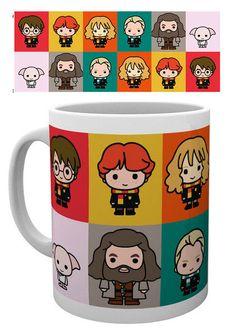 Taza personajes Chibi Harry POtter Estupenda taza con la imagen de los personajes en versión pequeña (Chibi) vistos en los films de Harry Potter, 100% oficial y licenciada ideales como regalo para los fans