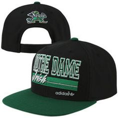 ab953a005516d adidas Notre Dame Fighting Irish Throw It Back Snapback Hat - Black Green Notre  Dame