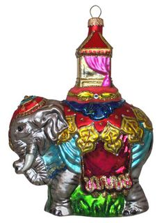 Handmade in Poland Indian Elephant Ornament
