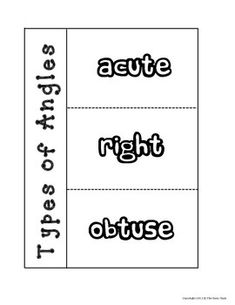 Elementary Geometry: Identifying Right, Obtuse and Acute