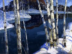 © Jonas Lie. Winter Blue. 1913