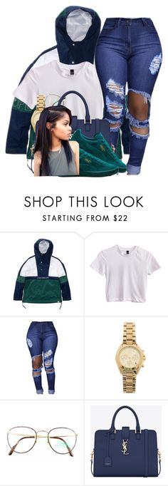 """""""I wanna go to the football game but idk"""" by lonna19thuggin ❤ liked on Polyvore featuring A BATHING APE, Michael Kors, Benetton and Yves Saint Laurent"""