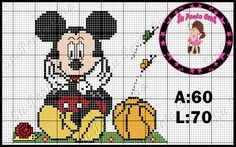 Mickey Mouse E Amigos, Mickey Mouse And Friends, Minnie Mouse, Crochet Diagram, Crochet Patterns, Bead Patterns, Mickey Mouse Blanket, Disney Cross Stitch Patterns, Beaded Animals