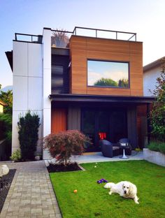 My home and doggie in North #Vancouver > #modern West Coast #architecture designed by Neil Darren Fancourt