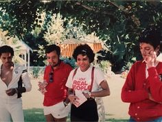 Above:From left: Marlon Jackson, Sergio Mendes, Janet Jackson, Michael Jackson, August 1983