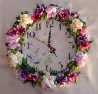 Gallery.ru / Цветочные часы - Вышивка лентами, ч4 - silkfantasy