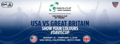 U.S. Davis Cup Team will face Great Britain at the Davis Cup First Round taking place at Petco Park January 31-February 2, 2014