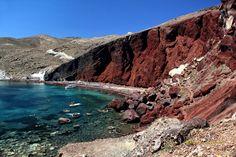 The Red beach near Akrotiri