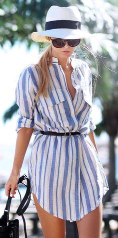 street style beachy stripes