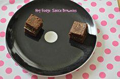 Brownies with hot fudge sauce and sundae Pop Tarts - total #yum