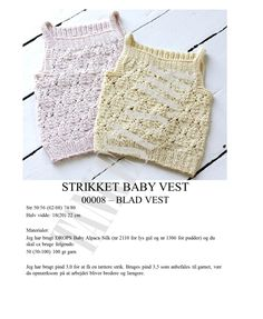 Gratis Opskrifter | Tankesus Drops Baby, Crochet Baby, Lace Shorts, Camisole Top, Vest, Knitting, Tank Tops, Mini, Women