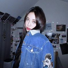 Look how baeutiful she are Ryu Won, Hipster Photography, Ulzzang Girl, Asian Girl, Cute Outfits, Fashion Outfits, Denim, People, Girls