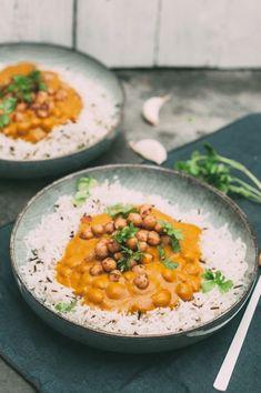 veganes Masala Kichererbsen Curry Rezept