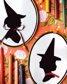 """83 Likes, 31 Comments - Ariel GH (@pmqfortwo) on Instagram: """"Looking for an easy addition to your Halloween decor? Look no further than my DIY Witch Silhouette…"""""""