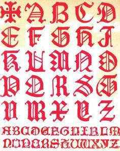 A W N Pugin. Alphabet design, 1844