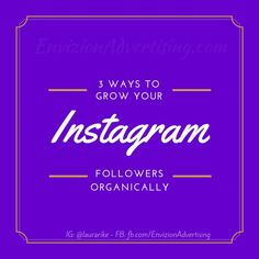Grow your Instagram Followers: Instagram is a rapidly growing social network for companies. Once known for selfies, Instagram is a visually stimulating tool in
