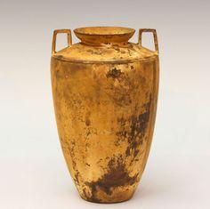 Old Antique Italian Patinated Ancient Roman Greek Bronze Verdigris Bottle Vase #European