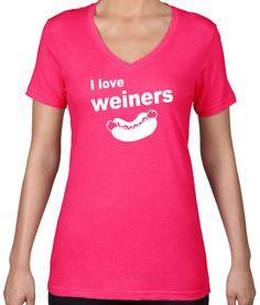 I Love Weiners V-Neck