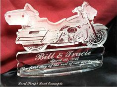 Harley Ultra Classic Themed Cake Topper, Custom Engraved per your order