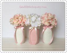Pink-White Wedding Decor-Bridal shower by EandSlittleShop on Etsy