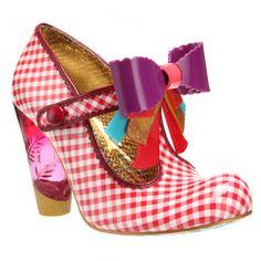 5a810cd3f16e8f Irregular Choice - Love You Red and white gingham check patent leather  heels · Sindirella · İlkim KocamazKitsch Shoes