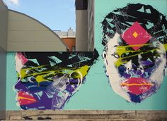 Street Art, Christchurch, NZ - Artist's website: http://www.askew1.com