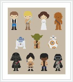 Star Wars cross stitch pattern PDF Pixel people by Xrestyk on Etsy