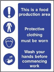 Multi Purpose - food production area safety sign